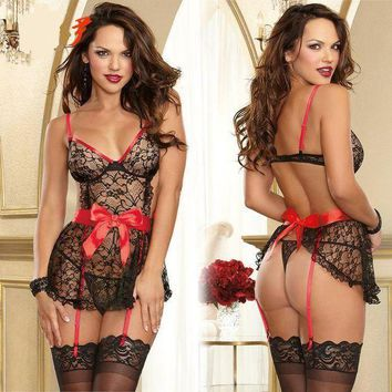 CREYUG3 On Sale Cute Hot Deal Sexy Lace Butterfly Spaghetti Strap Exotic Lingerie [11407008975]