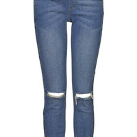 Maternity Definitives MOTO Ripped Knee Jamie Jeans - Mid Stone