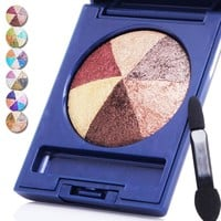 Nude Warm Color Eye Shadow Makeup Baked Eyeshadow Palette Smoky 6 Colors Eye Makeup Palette RP2