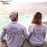 2017 New Design Men Tops Sweatshirt Copules Pullover Jumper Coat Couple Clothes Boyfriend and Girlfriend Clothing