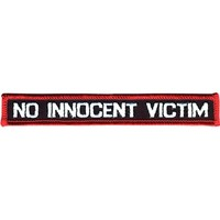No Innocent Victim Men's Embroidered Patch Black