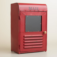 Red Metal Mailbox Desk Organizer - World Market