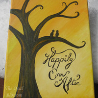Happily Ever After Acrylic Painting 8x10