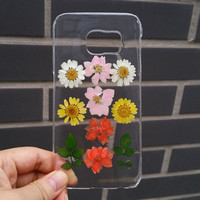Pressed Flower Samsung Galaxy note 4 Case, Real Flower Samsung Galaxy note3 Case, Natural Flower Galaxy S5 Case Dried Flower S4 Case