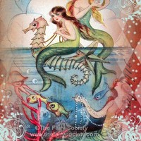 Mermaids in the Deep by sherrifairy on Etsy