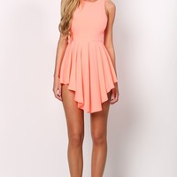 HelloMolly | Jolie Dress - Sleeveless neon pleated skate dress
