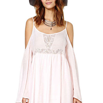 Lace Splicing Spaghetti Straps Dress