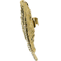 18KT Gold Plated Clear Gem Light as a Feather Ear Cuff | Body Candy Body Jewelry