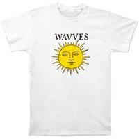 Wavves Men's  Space Sun Slim Fit T-shirt White