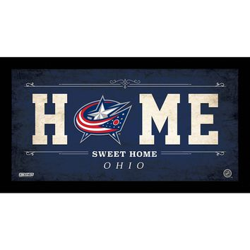 Columbus Blue Jackets 10x20 Home Sweet Home Sign