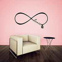Infinity Sign Symbol Dance with Ballet Pointe Shoes Vinyl Wall Words Decal Sticker Graphic