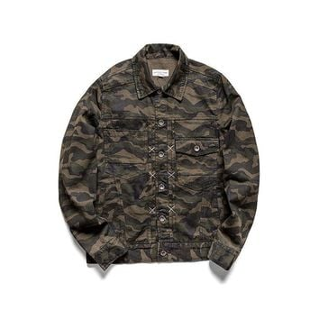 Design Men's Fashion Winter Classics Camouflage Tops Jacket [7929511299]