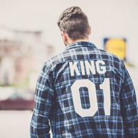 King 01 Blue Plaid Shirt, Plaid Shirt, Flannel Shirt, UNISEX