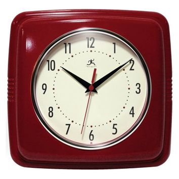 Infinity Instruments 9 Square Retro 9W x 9H in. Wall Clock - Walmart.com
