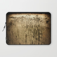 Old gold window at night Laptop Sleeve by steveball