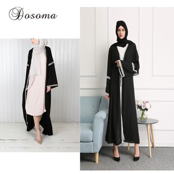 Muslim Women Lace Abaya Dress Casual Patchwork Maxi Gown Dresses Arab Robes Dubai Instant Hijab Vestido Islamic Prayer Costume
