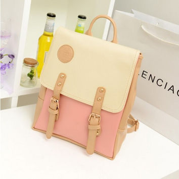 Back To School Casual Comfort Hot Deal College On Sale Stylish Lovely PU Leather Korean Bags Backpack [6582697991]