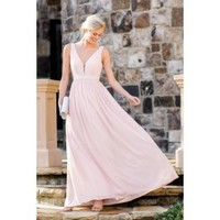 Hollywood Starlet Pale Pink Maxi Dress