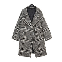 Classic Pattern Check Coat