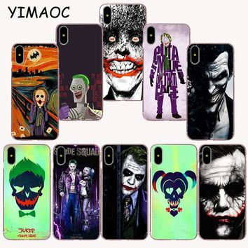 YIMAOC 262z Suicide Squad Joker Soft TPU Silicone Case for iPhone X r s Xr Xs Max 8 7 6S 6 Plus 5 5s SE