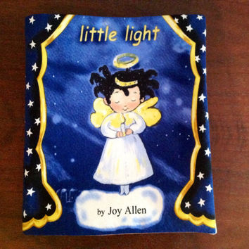 Little Light Christmas Holiday Fabric Book Tells the Christmas Story- New Cotton Cloth Book and Ready to Ship