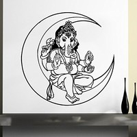 Wall Decal Vinyl Sticker Decals Ganesh Elephant Lord of Success Hindu Hand God Buddha India Yoga Ganesha Lotus Wall Stickers Home Decor Art Bedroom Design Interior Wall Decor Mural