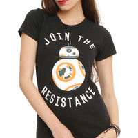Star Wars: The Force Awakens BB-8 Join The Resistance Girls T-Shirt