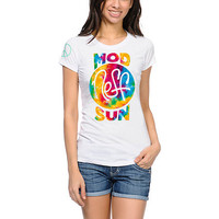 Neff x Mod Sun Tie Dye Girls White Tee Shirt at Zumiez : PDP