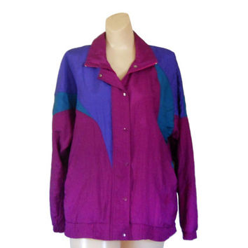 80s 90 Windbreaker Jacket Women Windbreaker 90s Windbreak Wind Breaker Retro Windbreaker Purple Windbreaker Women Spring Jacket Light Jacket