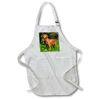 3dRose Vizsla Thinking of Lizards, Mr, - Medium Length Apron, 22 by 24-Inch, with Pouch Pockets (apr_208063_2)