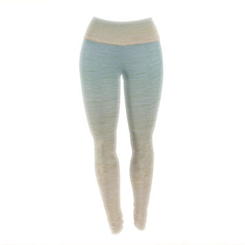 "Catherine McDonald ""Ombre Sea"" Beach Photography Yoga Leggings"