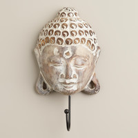 Whitewashed Buddha Head Wall Hook - World Market