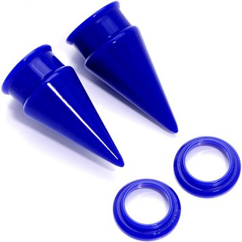 """5/8"""" Blue 2 in 1 Interchangeable Screw Fit Plug and Taper Set"""