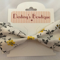 Vintage Yellow Rose Bow