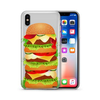 Monster Burger - Clear TPU Case Cover Phone Case
