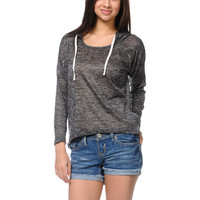 Empyre Girls Hacci Black Knit Pullover Hoodie at Zumiez : PDP
