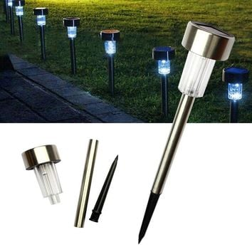 10pcs/Lot Solar Panel LED Spike Spot Light Spotlight Solar Lamps Outdoor Grounding Sun Light For Landscape Garden Yard Path Lawn