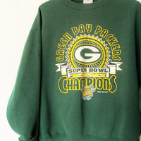 Vintage 1996 Green Bay Packer Super Bowl XXXI Champions Sweatshirt