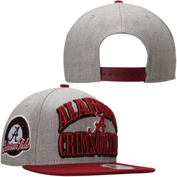Alabama Crimson Tide New Era 2-Tone Patcher 9FIFTY Adjustable Hat – Gray