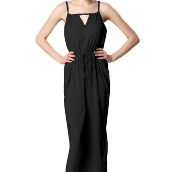 Hot sale Fashion Lady Sexy Women's Chiffon Halter Off-shoulder Hollow Out Maxi Long Beach Gown Casual Dresses