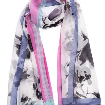 Aida-Sheer Silk Scarf Shawl