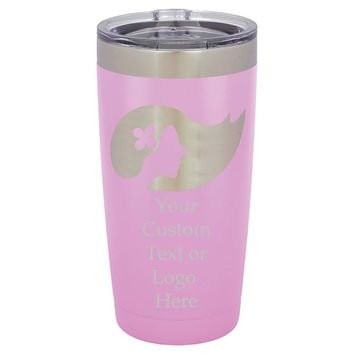 Customized 3D Laser Engraved Personalized Stainless Steel Travel Polar Camel Mug 20oz without Handle (Purple)