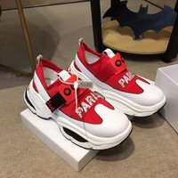 Supreme Men Fashion Boots fashionable casual leather  Breathable Sneakers Running Shoes Sneakers