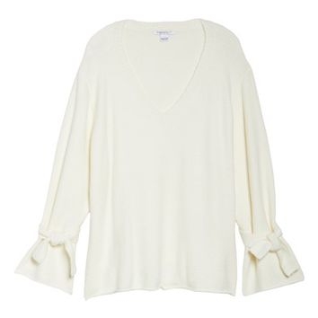 Glamorous Tie Sleeve Sweater (Plus Size) | Nordstrom