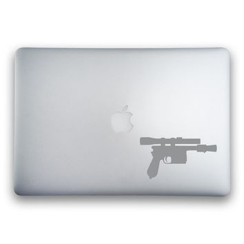 Han Solo's DL-44 Blaster Sticker for MacBooks and Apple Devices