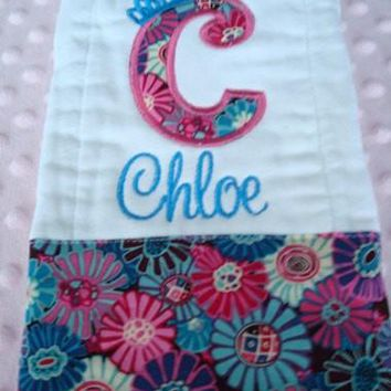 Chloe Personalized Burp Cloth Premium Quality 6-Ply Burp cloth