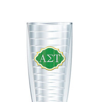 Alpha Sigma Tau Tumbler -- Customize with your monogram or name!