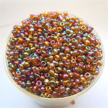 Free Shipping Bright Coffee AB Color 1000Pcs 2mm Czech Glass Seed Spacer Beads Jewelry Making DIY Pick 46 Colors