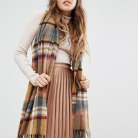Miss Selfridge Large Square Check Scarf