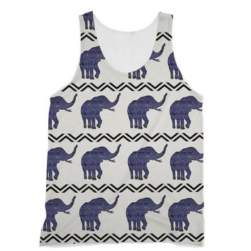 Purple Aztec African Elephant Designs by Amitie Sublimation Vest